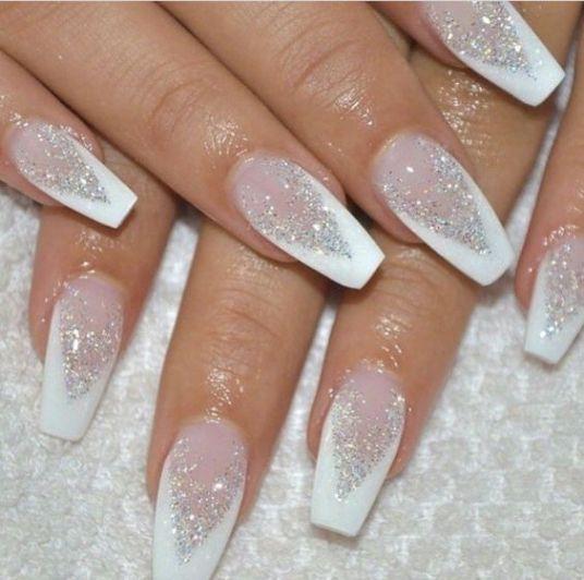 Winter Nail Designs You Need To Copy This Season Society19 Uk Nail Art Wedding Nail Designs Glitter Bridal Nail Art