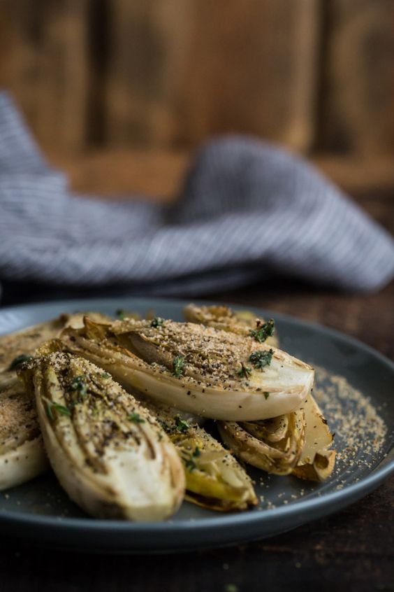 Roasted Endives with Thyme Olive Oil | @naturallyella