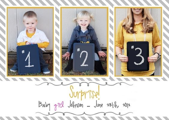 Chalkboard pregnancy announcement