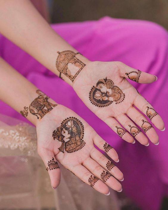 Loving this minimal design perfect for a minimalist bride | Vowsandtales #weddings#indianbride #weddingbells_786#weddingphotography #mehendi #mehendigoals#lehenga #henna #hennatattoo#hennaartist #indianweddinginspiration #weddinggoals#weddingbuzz #mehendi #indianbride #minimalist #bridal #brides #indianwedding | Function Mania