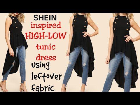 Diy How To Make High Low Ruffle Tunic Dress In Just 10 Minutes Youtube Diy Maxi Dress High Low Shirt Diy Diy Dress