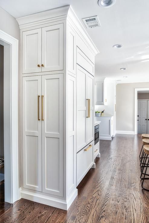 Stunning Floor To Ceiling Utility Shaker Cabinets Organize Cleaning Supplies And Other Necessiti Floor To Ceiling Cabinets Kitchen Remodel Small Pantry Cabinet