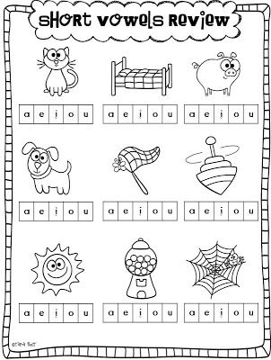 math worksheet : short vowels and a freebie  short vowels worksheets and shorts : Vowels Worksheets For Kindergarten