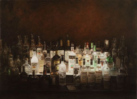 Bar Shrines, Lamps and Other Paintings of Light - dan witz