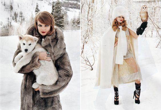 Russian Girls. Russian Beauty. Fur, Winter Fashion, Snow