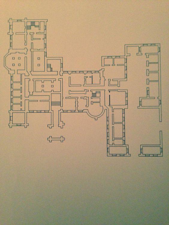 Ground Floor Plan of Castle early 19th Century Ireland