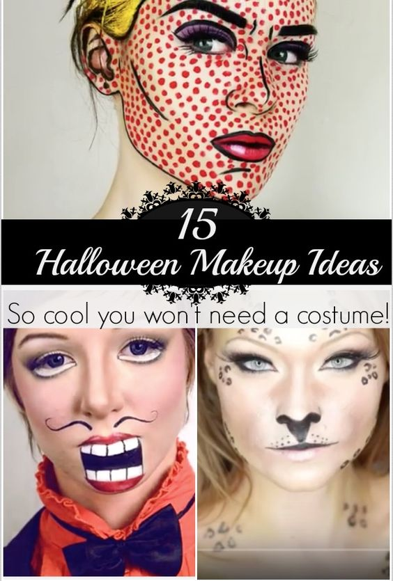 15 Really Cool Halloween Make Up Ideas! Cool halloween makeup - cool makeup ideas for halloween