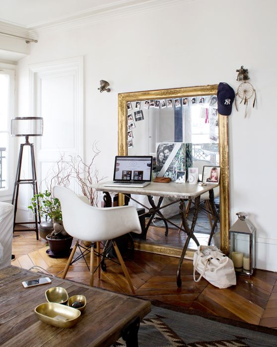 Charlotte mirror and paris on pinterest - Deco pour salle a manger ...