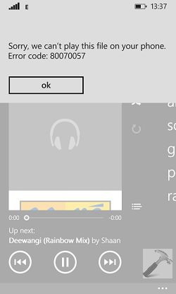 "[FIX] ""Sorry, We Can't Play This File On Your Phone"" For Music App In Windows Phone 8.1"