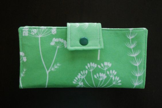 Green Dandelion, Ladies Wallet, Womens Wallet, Womans Wallet. $28.00, via Etsy.