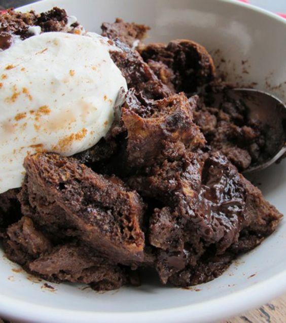 cinnamon chocolate bread pudding espresso puddings hot chocolate ...