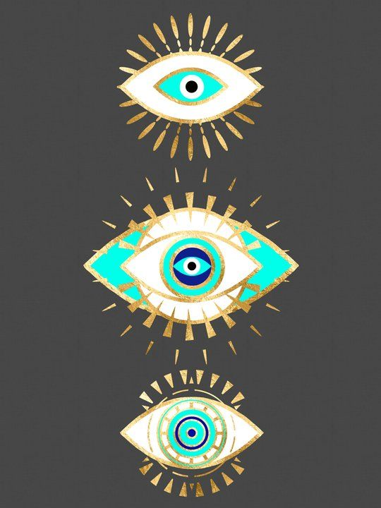 Evil Eye Times 3 Art Print By The Best Print Shop X Small In 2021 Evil Eye Art Hamsa Art Evil Eye Design