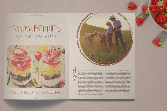 Organic Food Brochure Magazine Live Spreads Preview Editable