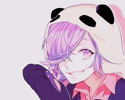 Anime Girl With A Panda Hat And Purple Hair Anime Girls