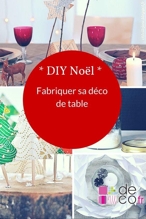 DIY Noël : fabriquer sa déco de table
