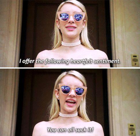 """Chanel Oberlin in Scream Queens """"Dorkus"""" #allhqfashion http://www.allhqfashion.com/"""