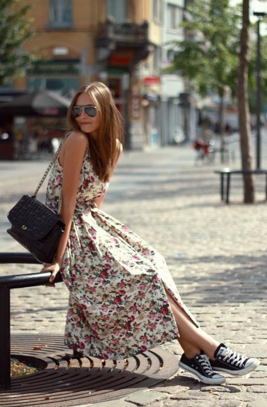 tênis converse + vestido