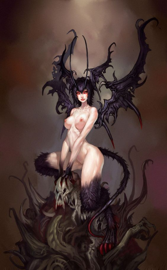 Something is. Sexy devil girl nude