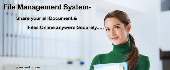 Ox-dox  File Management System Software manage and store the all web content of documents or files. For more information click on:- http://www.ox-dox.com/  & Call at 0120-4282274