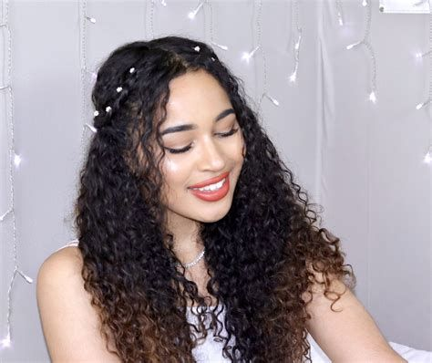 Boho Curly Hairstyles For Prom Weddings Graduation Curly Prom Hair Hair Styles Curly Hair Styles