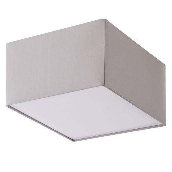 Deckenleuchte Borris - Webstoff / Eisen - 30 - Kies Jetzt bestellen