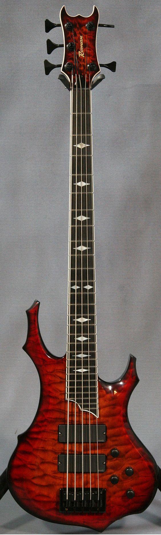 Ed Roman Custom 5 String Bass Guitar