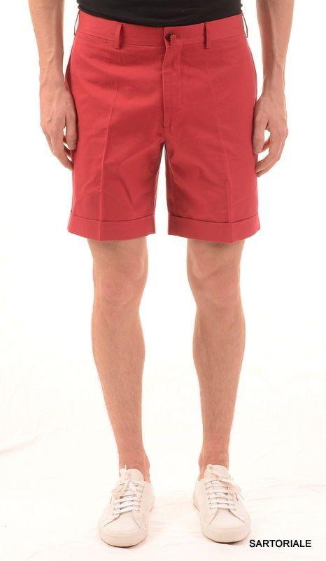 RUBINACCI Napoli Red Cotton Casual Bermuda Shorts NEW | Shorts ...