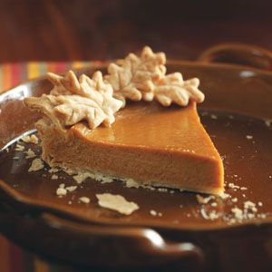 Easy Pumpkin Pie Recipe from Taste of Home -- shared by Marty Rummel of Trout Lake, Washington  #Thanksgiving