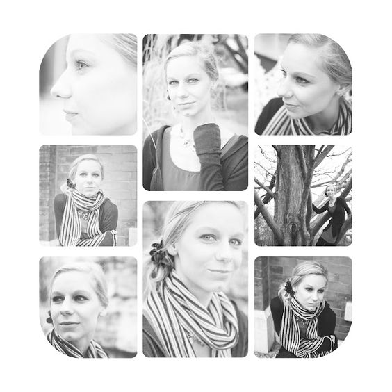 black and white story board of portraits