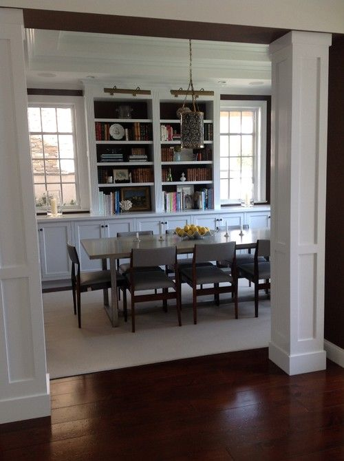 Built ins dining rooms and chairs on pinterest - Dining room built ins ...