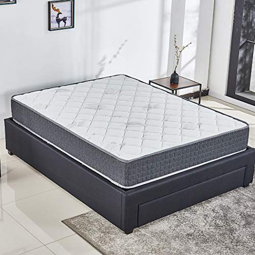 10 Inch Responsive Memory Foam Mattress Hybrid Innerspring Mattress In A Box Sleep Cooler With More Press Memory Foam Mattress Innerspring Mattresses Mattress