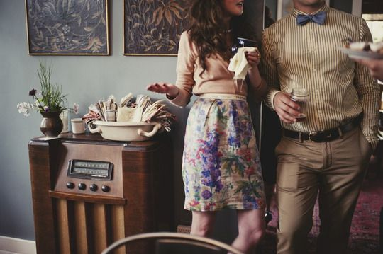 a wedding at home (from apt therapy): Outfit Bowtie, Bow Ties, Apartment Therapy, Engagement Photographer, Wedding Blog, Bowties, Wedding At Home