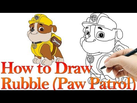 How To Draw Rubble From Paw Patrol Hde Youtube Paw Patrol Coloring Pages Paw Patrol Coloring Rubble Paw Patrol