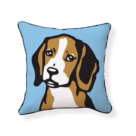 Naked Decor » Beagle Pillow