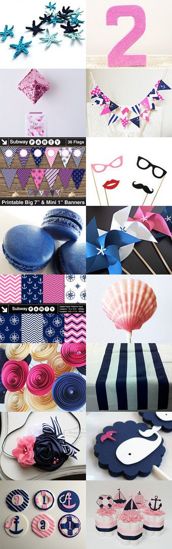 Navy Nautical Party decorations & printables from Etsy. All you need ...