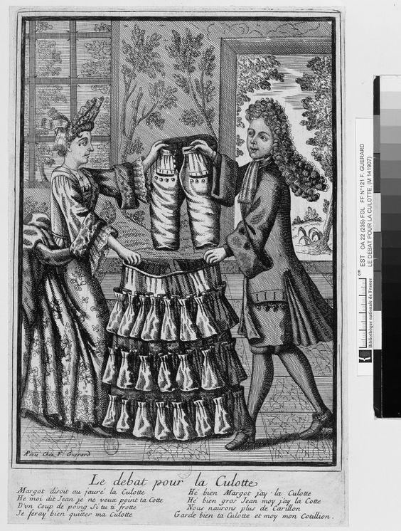Le débat pour la culotte François Guérard, vers 1695, BNF