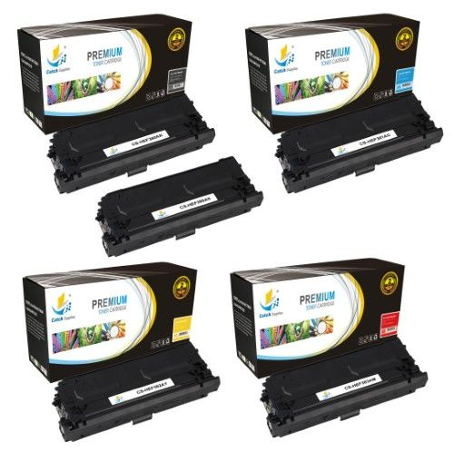Catch Supplies 508a 5 Pack Premium Replacement Toner Cartridge Compatible With Hp Color Laserjet M552 M553n M553dn Mfp M577f M577dn Printers Black Cf360a Cyan Cf361a Yellow Cf362a Magenta Cf363a Toner Cartridge Laser