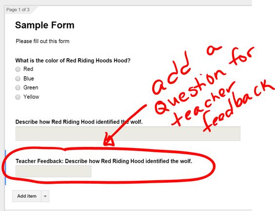GoogleForms teacher feedback question via @alicekeeler Google in - income assessment form