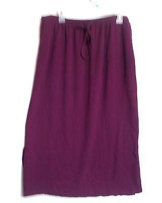 Style & Co womens skirt 16 w 1x drawstring purple burgundy black check crinkle