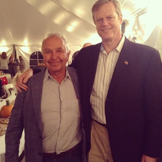 Honored to have @charliebaker at the farm last night for dinner.  Go Charlie!  #letsbegreat #MAgov #mapoli