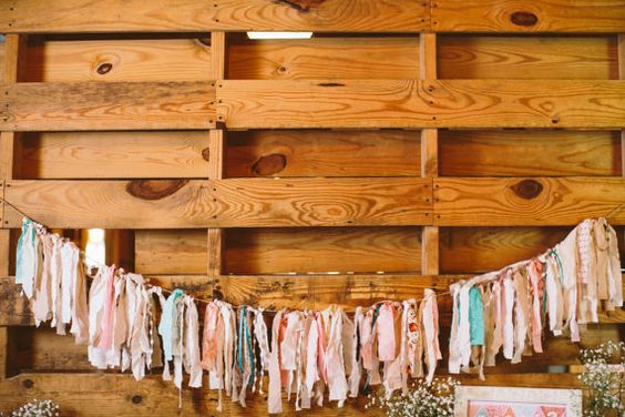 Fabric Streamer Garland  Small by QuaintlyUncommon on Etsy, $26.00