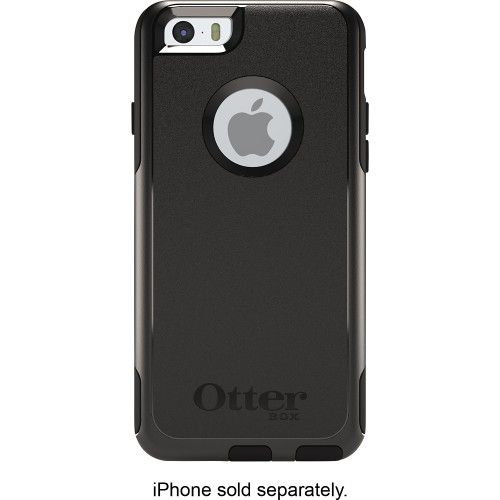 OtterBox - Commuter Series Case for Apple® iPhone® 6 - Black - Front Zoom