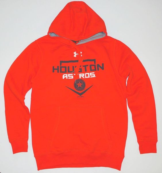 Under Armour Houston Astros Coldgear Orange Hoodie Adult Small NWT NEW…