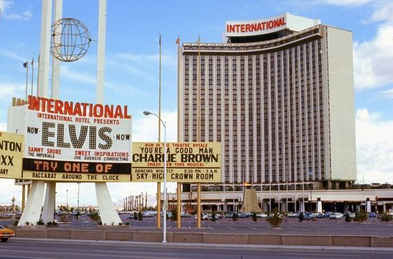 Elvis Presley At The International Hotel In Las Vegas A George