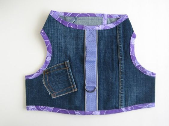 harness made from denim