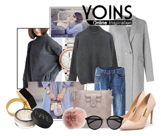 """#yoins"" by chrisfili ❤ liked on Polyvore featuring L.K.Bennett, Burberry, Fendi, Rupert Sanderson, Yves Saint Laurent, NARS Cosmetics, women's clothing, women, female and woman"