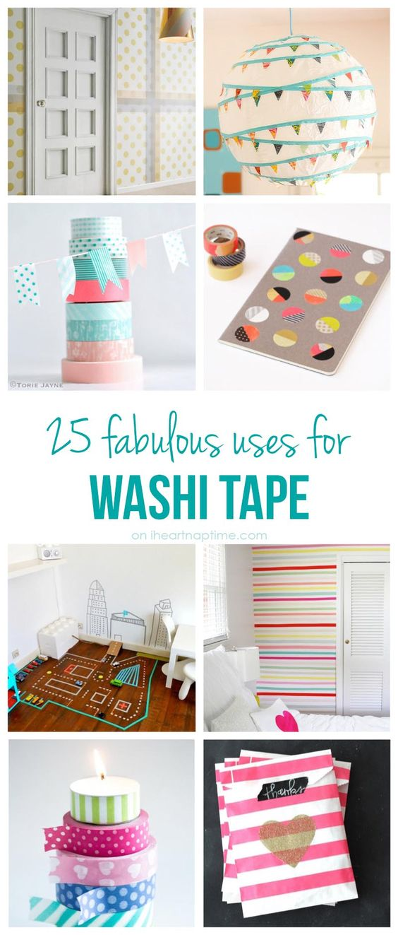 25 excellent uses for washi tape I Heart Nap Time | I Heart Nap Time - Easy recipes, DIY crafts, Homemaking: