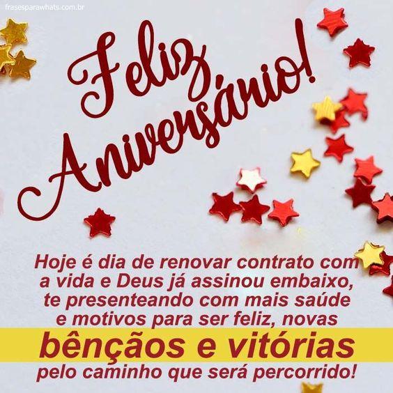 Feliz aniversario Bênçãos e vitórias para você.