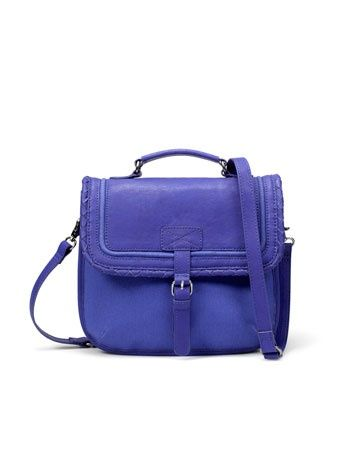 two toned handbags   Two-Toned Mini Briefcase