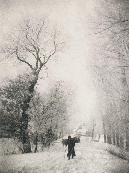 Julius StrakoschTitle:Holzsammler im Schnee